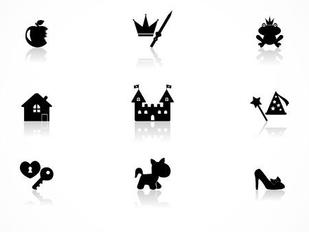 princess frog: Conjunto de iconos de Princesa