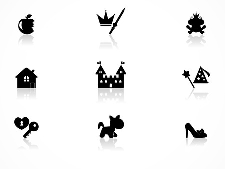 Princess icons set Vector