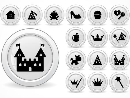 princess frog: Botones de Web