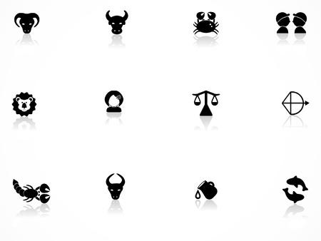 taurus sign: Zodiac icons