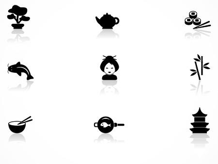 Japanische Kultur Icons set