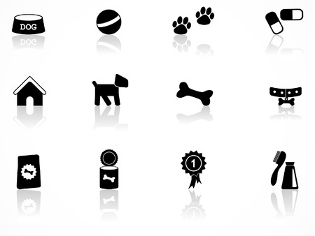 Dog icon set Vector