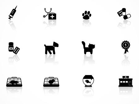 Conjunto de iconos de veterinaria