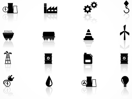 substation: Energy and industry icons set Illustration
