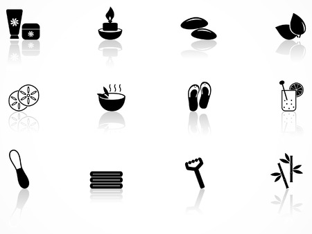 Spa and wellness icons set Stock Vector - 8487564