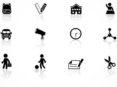 Conjunto de iconos de la escuela primaria