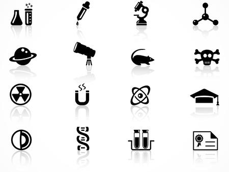 dna laboratory: Science icons set