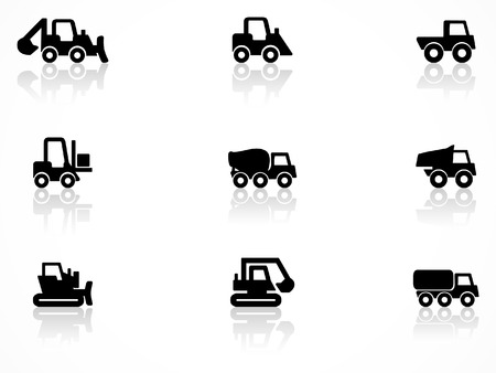 Construction machines symbols Vector