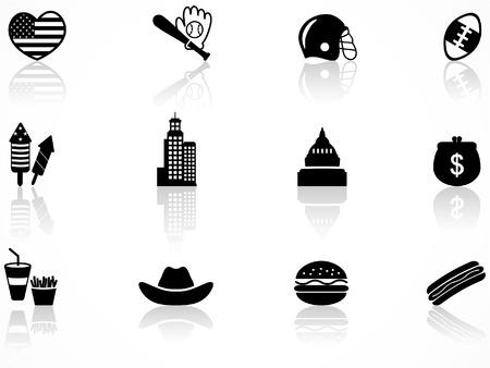 Set US-amerikanischer Symbole Illustration