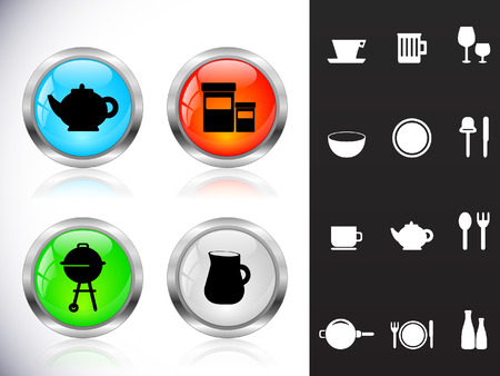 ware: Web metal buttons, ware symbols