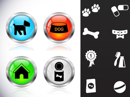 veterinary symbol: Web metal buttons