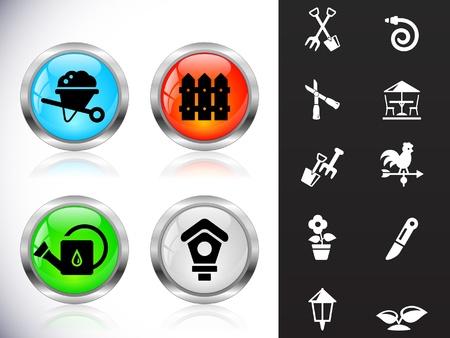 Web metal buttons Vector