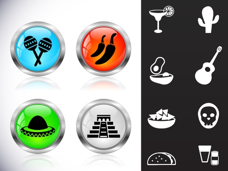 Web metal buttons Vector