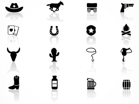 Icônes de Cowboys Vecteurs