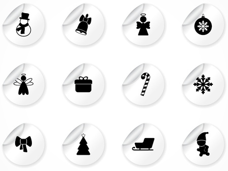 Set of stickers with icons Stock Vector - 9116289