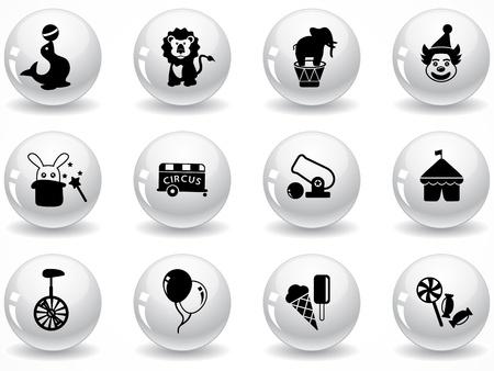 Web buttons, circus symbols
