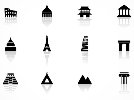 chinese pagoda: Landmark icons Illustration