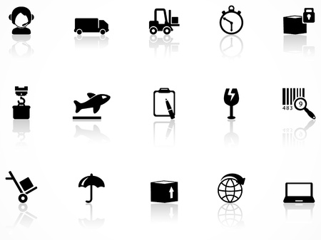 forklift truck: Logistics and shipping icons Illustration