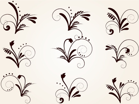 set of vintage patterns for design Stock Vector - 9485803