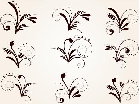 most popular: set of vintage patterns for design