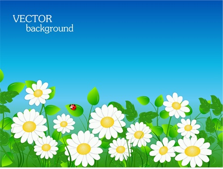 abstract floral background with place for your text Stock Vector - 9628018