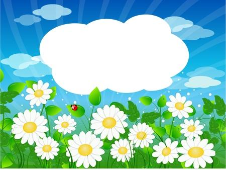 Summer meadow background Stock Vector - 9628022