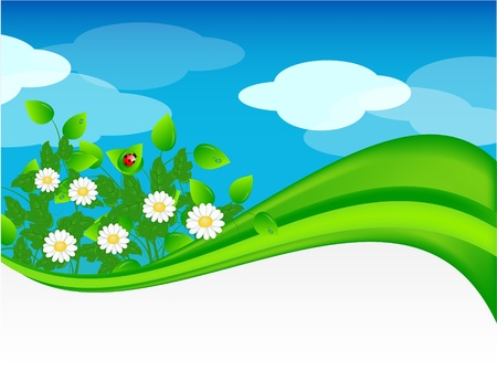 Summer meadow background Stock Vector - 9628021