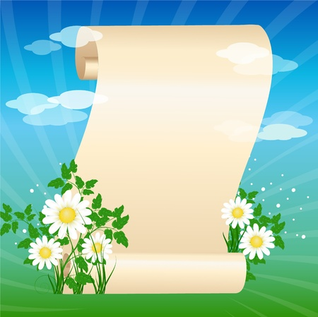 scrolled paper with place for your text Stock Vector - 9892788