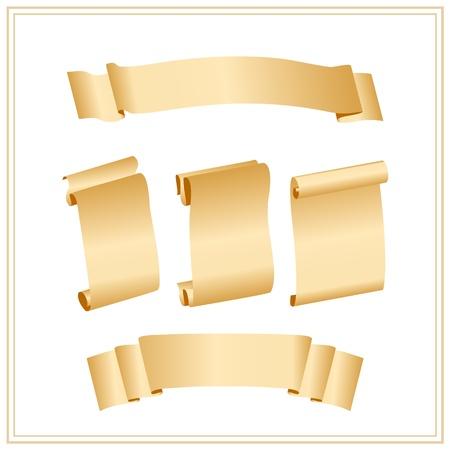 scroll?: papel deslizante con lugar para el texto Vectores