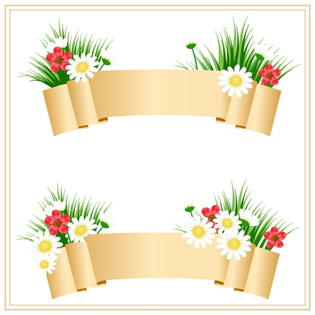 floral banners with place for your text Vector