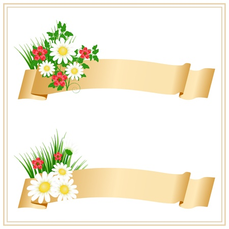 floral banners Stock Vector - 9892814