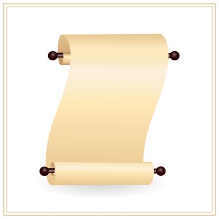 ein Bildlauf ausgef�hrt Papier mit Platz f�r Ihren text Illustration