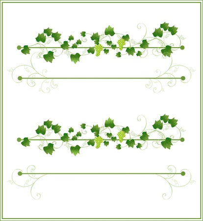 Floral frame with grapes