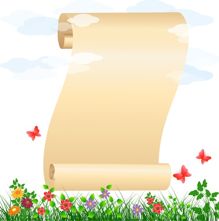 scrolled paper with place for your text Stock Vector - 9892913