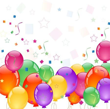 marco cumplea�os: globos de colores
