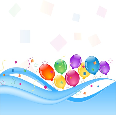 colorful balloons Illustration