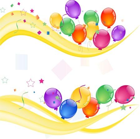 bunten Luftballons