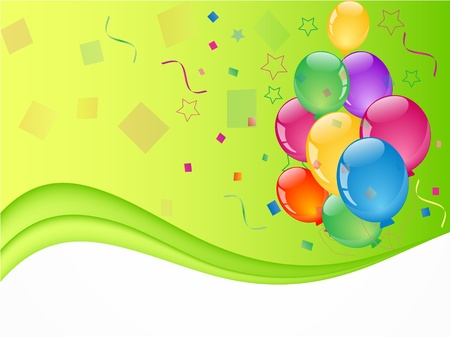 party colorful balloons Illustration