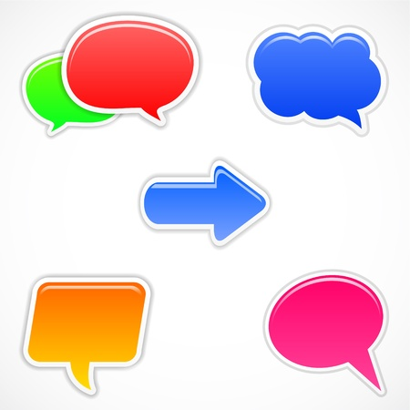 curled up: set of colorful speech bubbles Illustration