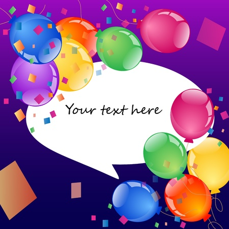 colorful balloons with place for your text Stock Vector - 10197955