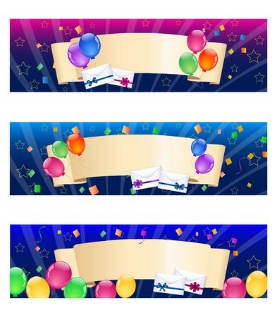 envelope decoration: Banderas de colores globo