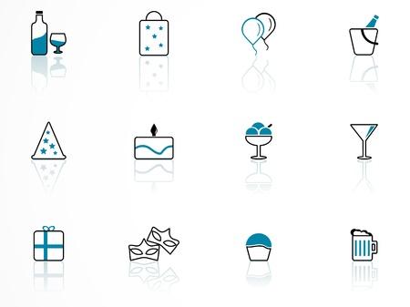 birthday symbols, contour series Stock Vector - 10359539
