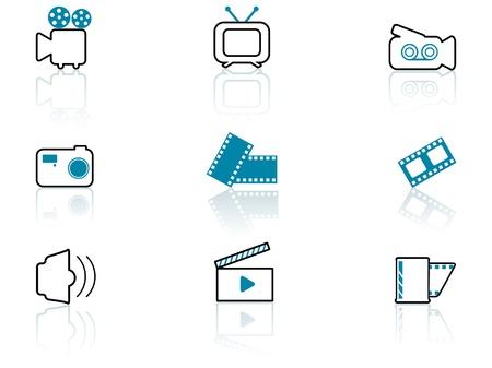 media symbols, contour series Illustration