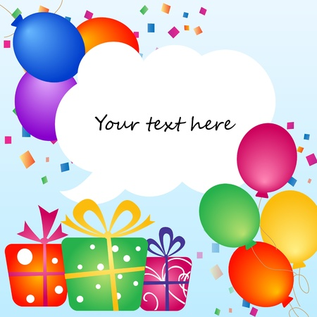helium: colorful balloons with place for your text