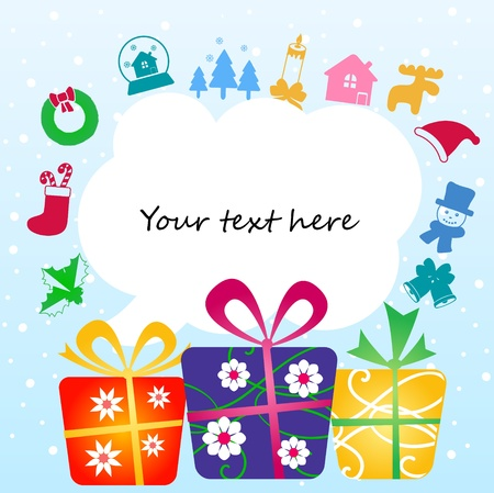 your text: gift boxes with place for your text
