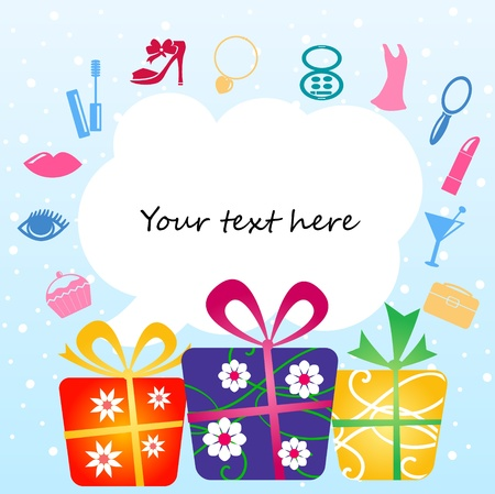 gift boxes with place for your text Stock Vector - 10529378