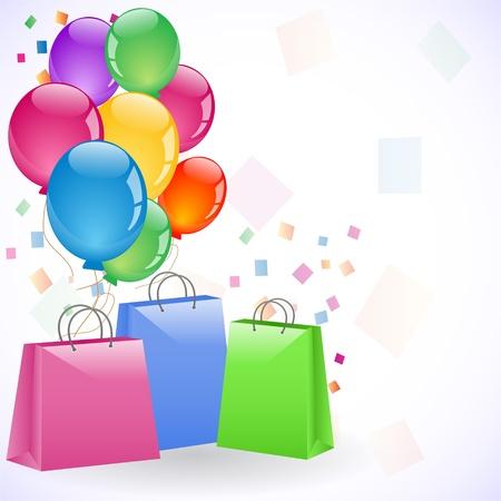 Taschen und Ballons