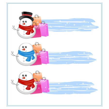 banners with different snowmans Vector
