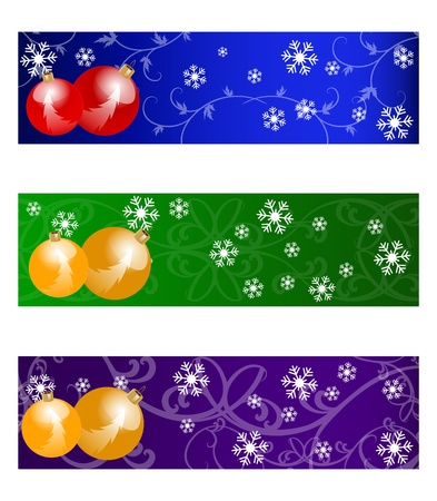 bubles: christmas colorful banners