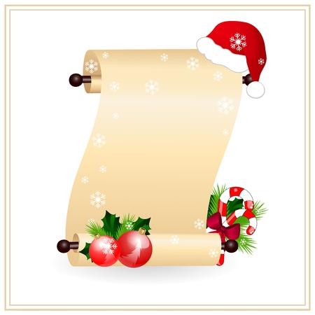 parchment texture: scorrere la carta con il rosso cappello santa